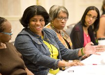 """Ervin scholars met to discuss Washington University's administrative past and future in a roundtable meeting, """"Ervin Legacy: Model for University Administration."""" (Sid Hastings)"""