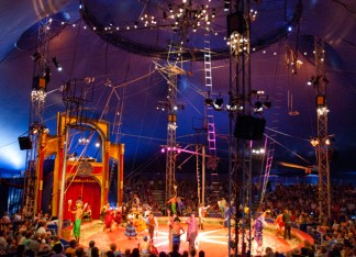 Before 2001, Circus Flora roved various St. Louis parks and performed at different times of the year. Now the Big Top calls Grand Center home. It goes up every June behind Powell Symphony Hall. (File photo: Whitney Curtis)