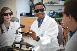 Samuel Achielfu in his lab