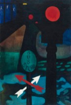 """Stop Light,"" 1943. Oil on canvas, 32 x 23"". Collection of Paul Shank."