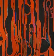 """G.P. 3-73,"" 1973. Oil on canvas, 71 7/8 x 69"". Mildred Lane Kemper Art Museum, Washington University in St. Louis. Gift of Eugene F. Williams Jr., 1989, WU 1989.2."