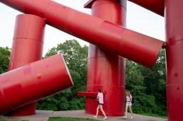 students at Laumeier Sculpture Park