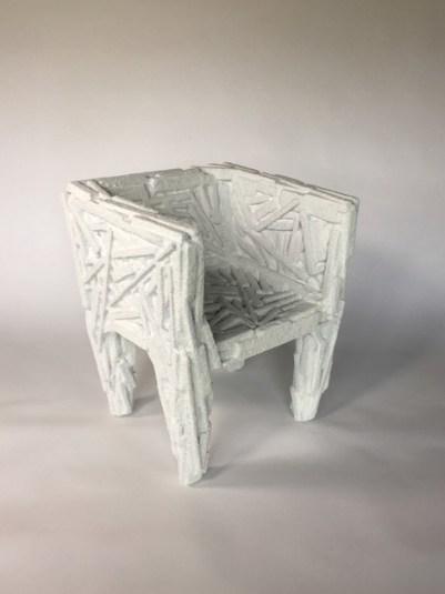 """Amy Hauft, """"Salt Chair,"""" from """"Tender Glass"""" (2017)."""