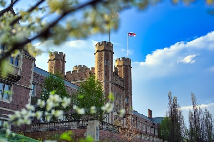 Photographer James Byard beautifully captures images of spring blooming on campus, including the newly opened east end. (All photos: Washington University)