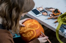 pumpkin carving-architects
