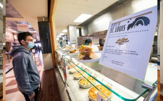 """The """"Bite of St. Louis"""" features dishes from some the area's top restaurants, including Joe Fassi Sausage & Sandwich Factory (above), Pappy's and Sauce on the Side. (Photo: Joe Angeles/Washington University)"""