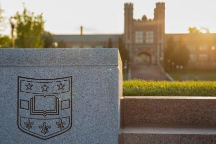 Brookings Hall at sunset