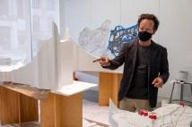 Hoeferlin works on Exhibit Columbus project