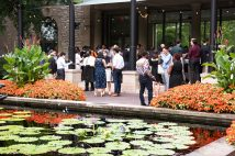 The McDonnell International Scholars Academy welcomes new scholars, staff and faculty Aug. 26 at the Missouri Botanical Garden. (Photo: Carol Green/Washington University)