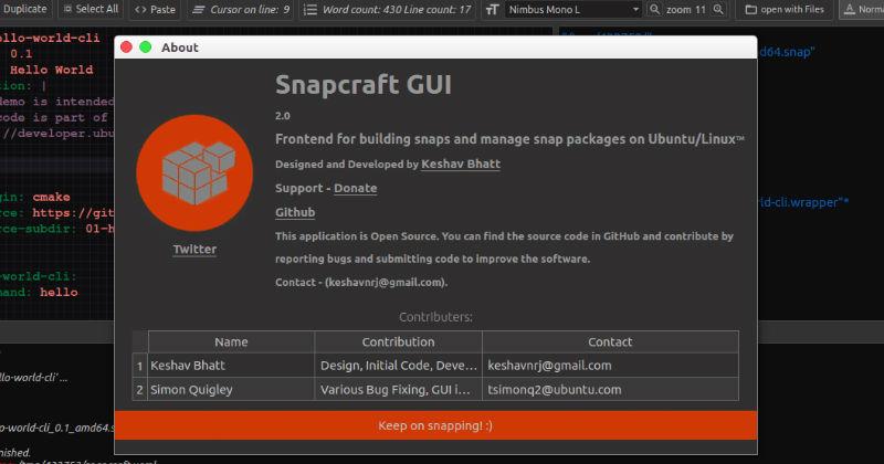snapcraft-gui