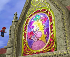 What Princess Peach's Castle is famous for, the stained glass portrait of her prayer.