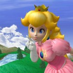 Peach appears! You shouldn't hit girls and send them flying, though.