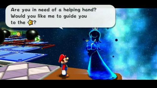 Mario and the Cosmic Spirit in Super Mario Galaxy 2