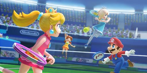 Mario and Peach vs. Daisy and Rosalina in Sports Superstars (Image: Nintendo)