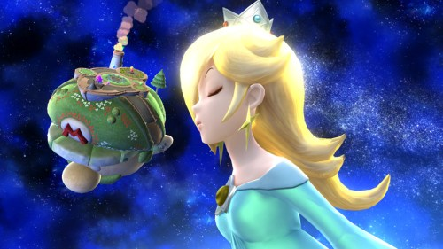 Rosalina recovering in Super Smash Bros. for Wii U