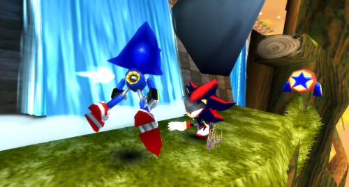 Metal Sonic vs. Shadow in Sonic Rivals 2