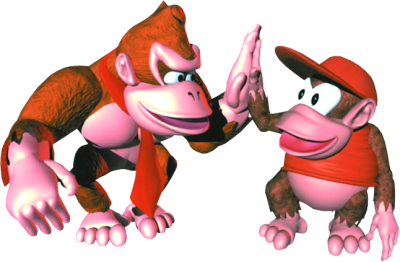 Donkey Kong and Diddy Kong in Donkey Kong Country