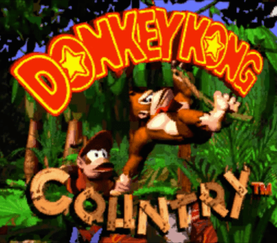 Donkey Kong Country title screen screen