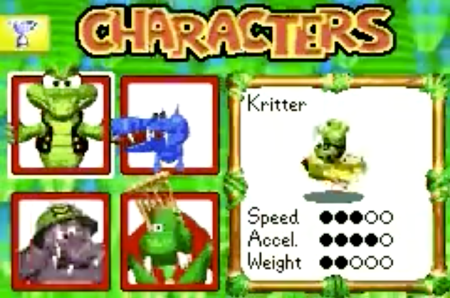 Kritter lost some weight for the 2003 iteration of Diddy Kong Pilot, though his resemblance to Krunch endured. (Image: Nintendo)