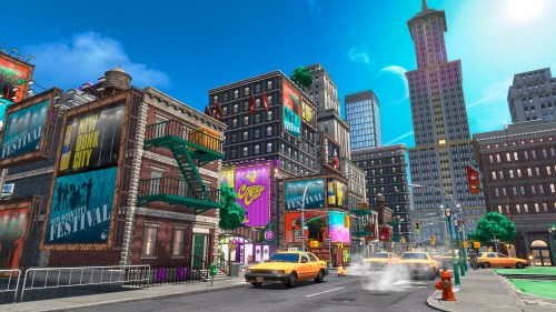 New Donk City in Super Mario Odyssey