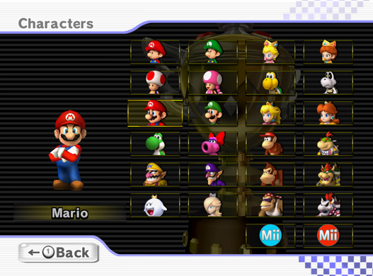 On Character Selection Mario Kart Part 2 Source Gaming