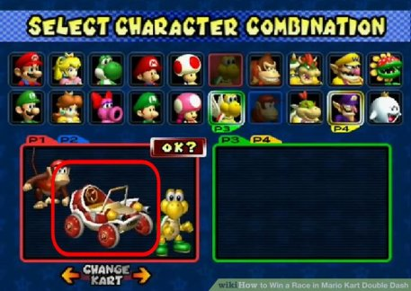 On Character Selection Mario Kart P 1 Source Gaming