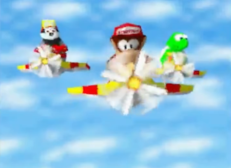 Diddy Kong, Bumper and Tiptup in Diddy Kong Racing DS