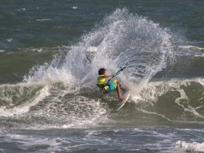 riding the waves at Malibu beach