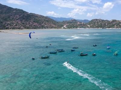 kitesurf in phan rang with north orbit kite