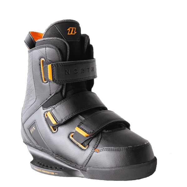 north fix boot bindings side view