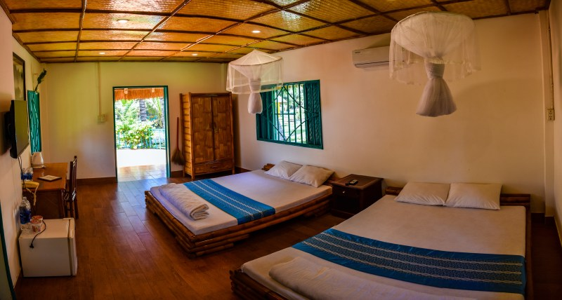 rustic bungalow accommodation