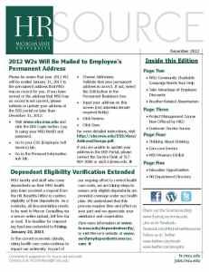 December E-newsletter Cover