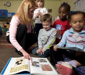Teacher and Schoolchildren