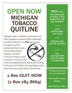 Tobacco Quitline Flyer