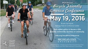 The event will close with a bike ride around MSU's beautiful campus, led by Tim Potter from MSU Bikes!