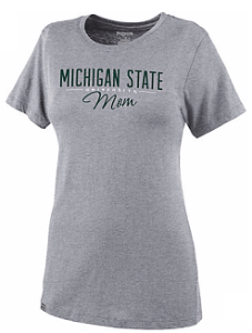 This MSU Mom shirt is available at the Student Bookstore