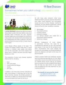 Lyme Disease Flier