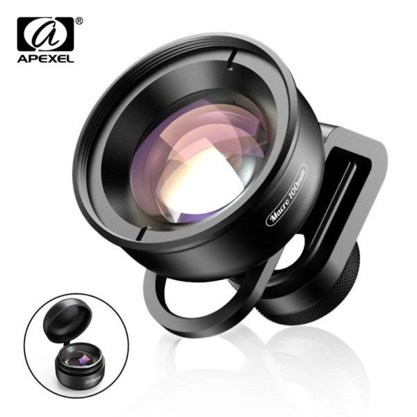 Apexel 100mm 10x Professional 4K Macro Lens for SmartPhone SOP