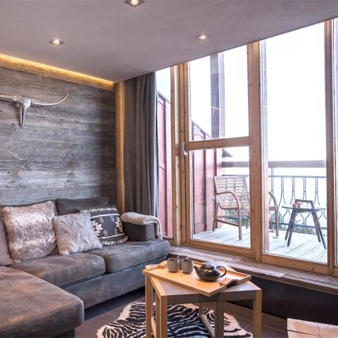 Appartement alpin (Les Arcs 1800) - Coin montagne - Appartement Les Arcs Vue Mont-Blanc - Thomas Ouf - Source Studio - Architecte d'intérieur à Aix-les-Bains en Savoie