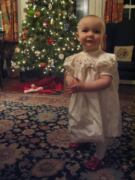 Samantha by the tree