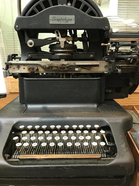 Old Fashioned Linotype Machine   Sour Cherry Farm