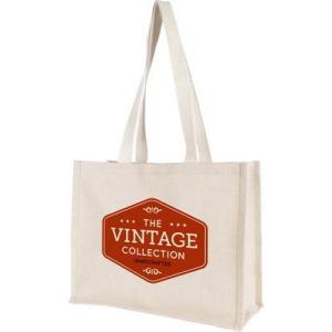burlap grocery bag