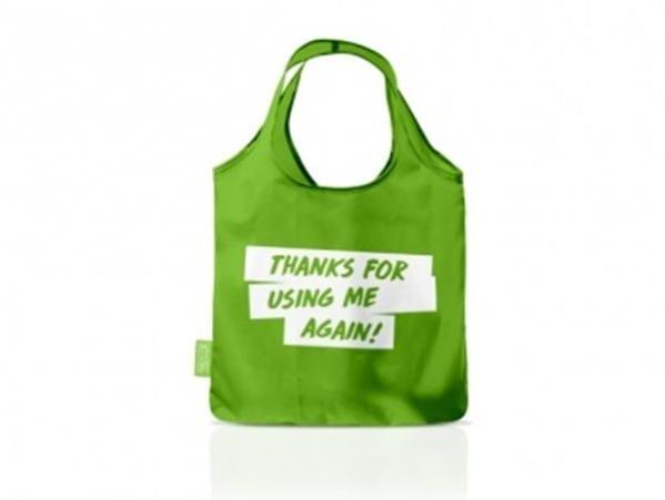 Recycled Promotional Shopping Bottle Bag