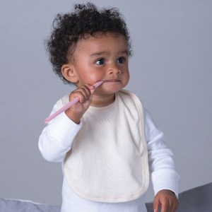 Organic Baby Bib with Ties