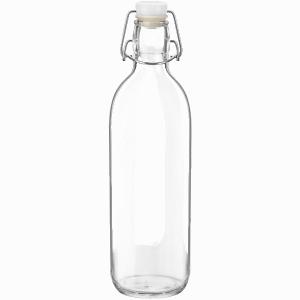 Reusable Glass Water Bottle with Flip Top Lid
