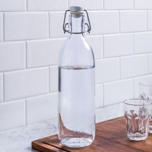 custom printed glass water bottles