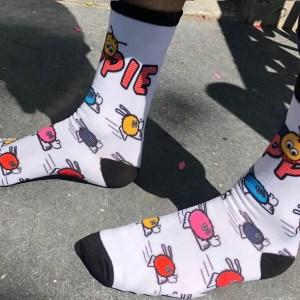 imprinted socks