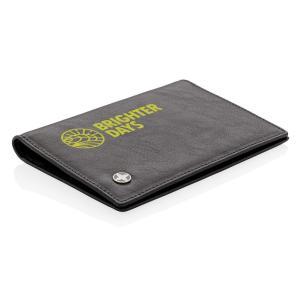 RFID anti-skimming passport holder