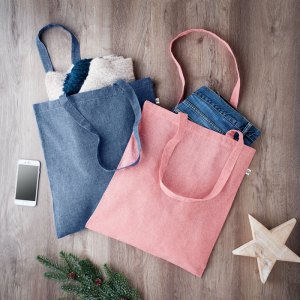 Promotional Recycled Cotton Shopping Tote Bag