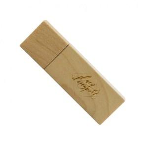 Promotional Wooden USB Flash Drive Custom Printed